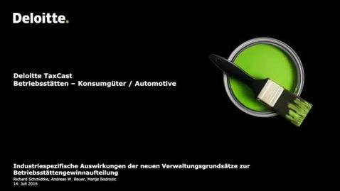 Thumbnail for entry Industriespezifische Auswirkungen der neuen Betriebsstatten-Grundsatze-Konsumguter-Automotive