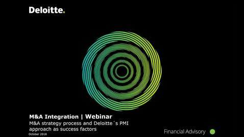 Thumbnail for entry Deloitte Stay in Touch Community Webinar: M&A Integration @ Deloitte