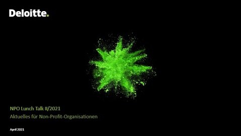 Thumbnail for entry NPO Lunch Talk II/2021 - Aktuelles für Non-Profit-Organisationen