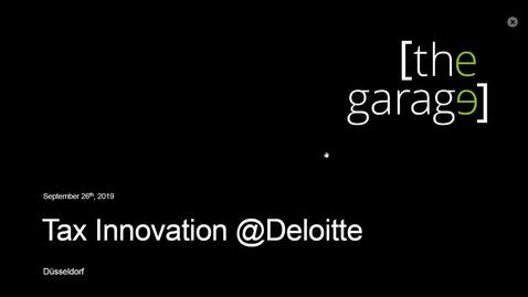 Thumbnail for entry Deloitte Stay in Touch Webinar- Tax Innovation @ Deloitte