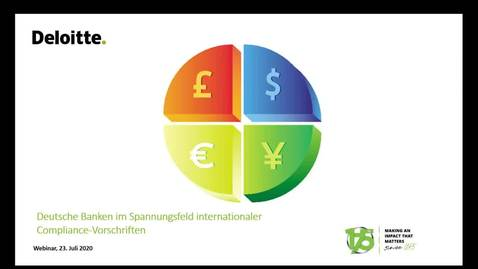 Thumbnail for entry Webcast | Deutsche Banken im Spannungsfeld internationaler Compliance-Vorschriften | TRM