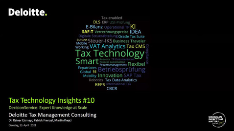 Thumbnail for entry Tax Technology Insights #10