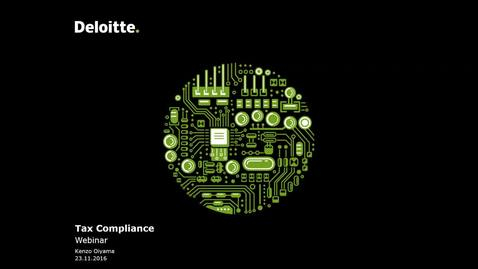 Thumbnail for entry Deloitte Stay in Touch Community Webinar Tax Compliance