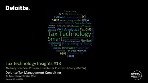 Thumbnail for entry Tax Technology Insights #13