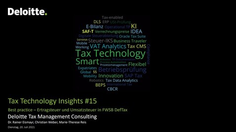 Thumbnail for entry Tax Technology Insights #15