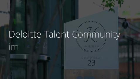 Thumbnail for entry Deloitte | Talent Community Event